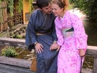 Beatriz Daniel Shinbashi bridge Gion Kyoto 2013 Micah Gampel